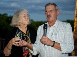 Anne Young receives the Lifetime Achievement award from Ira Shoulson.
